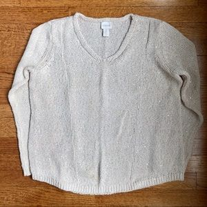 CHICO'S IVORY KNIT SWEATER